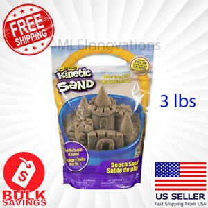✅ Kinetic Sand Natural Beach Sculpting Molding Sand Use With Play Sets - 3lbs