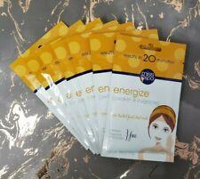 Lot Of 7 Miss Spa Energize Awaken & Invigorate Sheet Facial Masks Single Use Ea