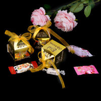 10pcs/lot Gold Happy Eid Mubarak Candy gift box ramadan decorations Islamic'GX