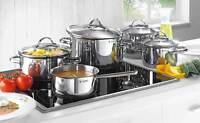 WMF Provence Plus Batería de Cocina 5 Piezas Cacerola Cazo y 3 Ollas Alcero Inox