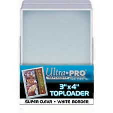 1000 Ultra Pro White Border toploader  3x4 Toploaders New