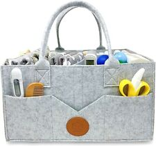 Baby Diaper Caddy Organizer Portable - Basket for Changing Table, Unisex Bag