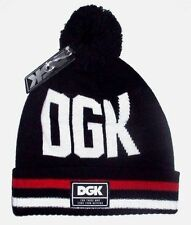 MENS DGK BLACK BEANIE HAT ONE SIZE