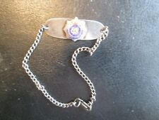 "WWII Era Royal Canadian Army Service Corps. ID Bracelet ""Doris"" Sterling"