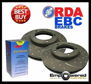 DIMPL SLOTTED FRONT DISC BRAKE ROTORS+PADS for Mercedes Benz Vito 111CDi 2008-11