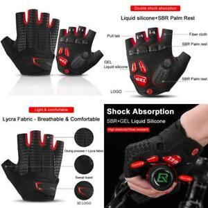 Rock Bros Road Cycling Gloves For Men Women Commuter Gloves Half Finger Biking G