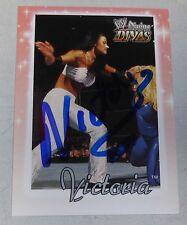 Victoria Signed WWE 2003 Fleer Divine Divas Card #62 Pro Wrestling Autograph TNA