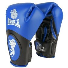 LONSDALE Blue & Black Lion Boxing Training Gloves 12oz 14oz 16oz BNWT