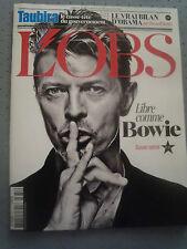 David Bowie Dossier spécial  L'Obs 14 Janvier 2016 French Magazine