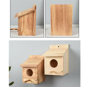 Parrot Wooden Bird House DIY Cage Home Eco-friendly Nest Garden Decoration