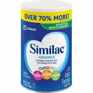 Similac Advance Infant Formula with IRON & OPTIGRO 40 oz EXP 09/23 FREE SHIPPING