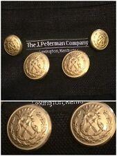J Peterman Blazer Suit Jacket Replacement Buttons Set Lot 8 Gold Metal Waterbury