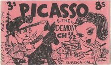 Picasso & the Demon Eureka California Vintage Cb / Ham Shortwave Radio Card