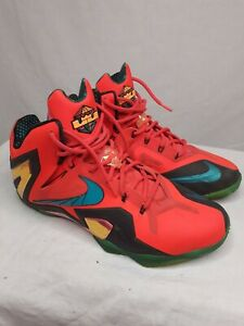 Nike Lebron XI 11 Mens Super Hero Pack Laser Crimson 642846-600 Size 12