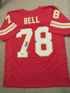 Bobby Bell signed Red Pro Style jersey, HOF 83 , Tristar