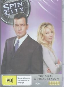SPIN CITY The Complete Sixth 6th Season 6 (4 x DVD Set) Charlie Sheen NEW/SEALED