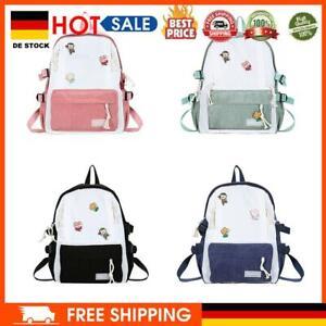 Casual Hit Color School Bag Women Corduroy Large Capacity Shoulder Handbags