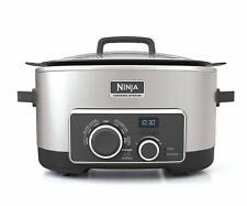 Ninja 4-In-1 Slow Cooker 6 Quart Stovetop Oven Cooking System w/ Roasting Rack