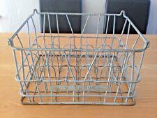 More details for vintage w onions milkmans milk bottle crate carrier metal wire construction