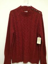 Womens Red Long Sleeve Sweater by St Johns Bay Size XL  NWT