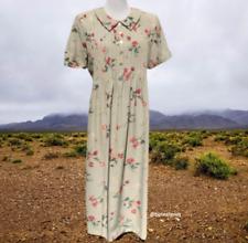 Positivite Attitude Womens Fall Pintuck Midi Dress14P Floral Short Sleeve Modest