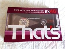 CASSETTE TAPE SEALED - 1x (one) THAT'S EX 46 (type II) [1987-88] Taiyo Yuden