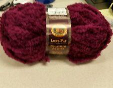 Lion Brand luxe fur Amethyst yarn 44 yards new knitting looming