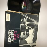 Johnny Gilbert Trio- That's All- Imperial LP 9225- VG+/VG+ Solid VG+
