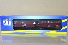 REE MODELES WB-257 SNCF PLM COUVERT TYPE I GOODS VAN WAGON SET Ep II ng