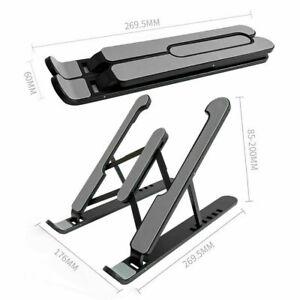 Universal Tablet Desk Stand Holder Mount Cradle Adjustable Foldable -Black