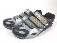 Louis Garneau LG Womens 40 Ergo Grip Mountain Bike Shoes US Size 7.5 Gray Black