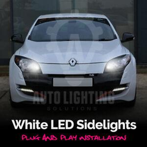 For Renault Megane MK3 III 3 2008-2015 White LED Sidelights Side Light Bulbs