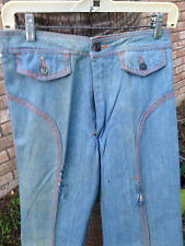 Faded Glory Pre-Washed Panel 70s Vintage Bell Bottom Denim Jeans