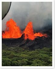 2018 Kilauea Volcano Fissure 22 Lava Fountains Silver Halide Photo
