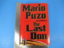The Last Don A Novel Book First Edition Mario Puzo Godfather HC DJ 483 Pgs