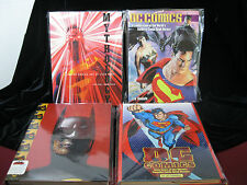 (4) Comic Related Oversized Books DC Heroes, Alex Ross, Batman Collected, NEW