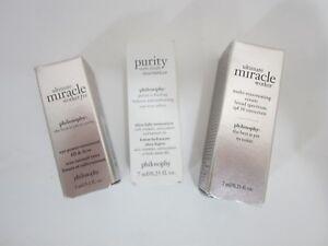 Philosophy Skin Care 3 Lot Travel Size Moisturizer Rejuvenating Cream Eye Firm