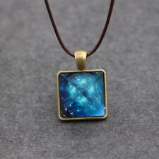 Cool Glow In The Dark Starry Sky Pyramid Pendant Necklace Jewelry Gift Pretty