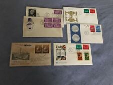 FDC -  LOT OF 6 COVERS FROM THE 1950S- 1970'S