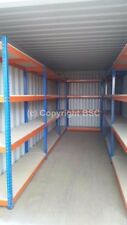 Heavy duty 600kg shelving shipping containers workshops garages sheds storage