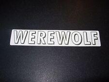 "NEWCASTLE Text 4.5"" Werewolf Logo STICKER decal craft beer brewery brewing"