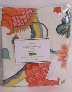 Pottery Barn Serafina print drape curtain panel, 50x96, cotton lined *on hand
