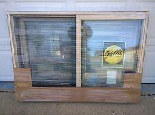 """NEW: Pella Almond (or tan) Color Vinyl Semi-SLIDER Home WINDOW  (52"""" W x 37"""" H)"""