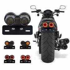 License Plate Holder LED Brake Tail Turn Signal Light For Bobber Cafe Racer ATV