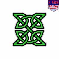 Celtic Knot Ireland Irish Green 4 Stickers 4x4 Inch Sticker Decal