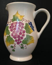 White Pitcher with Grape Decal made by Hall China