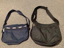 Vintage Lesportsac Crossbody Small Bag Set of 2 Black & Blue shoulder