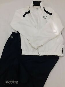 LACOSTE MENS TRACKSUIT SIZE 7/192 BLUE AND WHITE