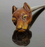 Rare Vintage Dog/Wolf Letter Opener with Glass Eyes - Unique and Detailed