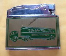 1950s VON DER AHE VAN LINES CIGARETTE LIGHTER, TRUCKING COMPANY, ST. LOUIS, MO